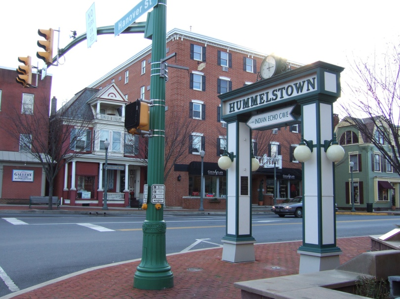 Photo of the square in Hummelstown taken January 08, 2007 |Author Jayu from Harrisburg, PA.