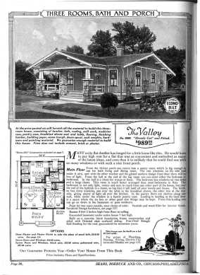 """The Valley"" home with floorplan from the Sears Catalog of 1921"